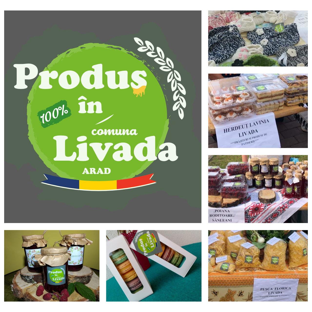 Etichete Autocolante Produs 100% in Livada Arad